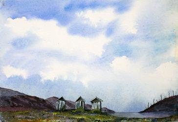 Three Beach Huts